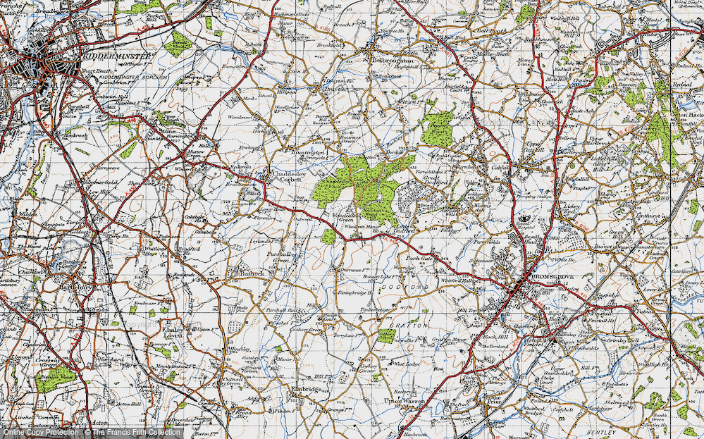 Old Map of Woodcote Green, 1947 in 1947