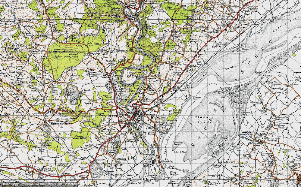 Old Map of Woodcroft, 1946 in 1946
