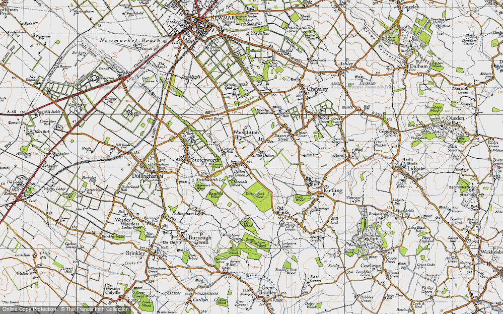 Old Map of Woodditton, 1946 in 1946