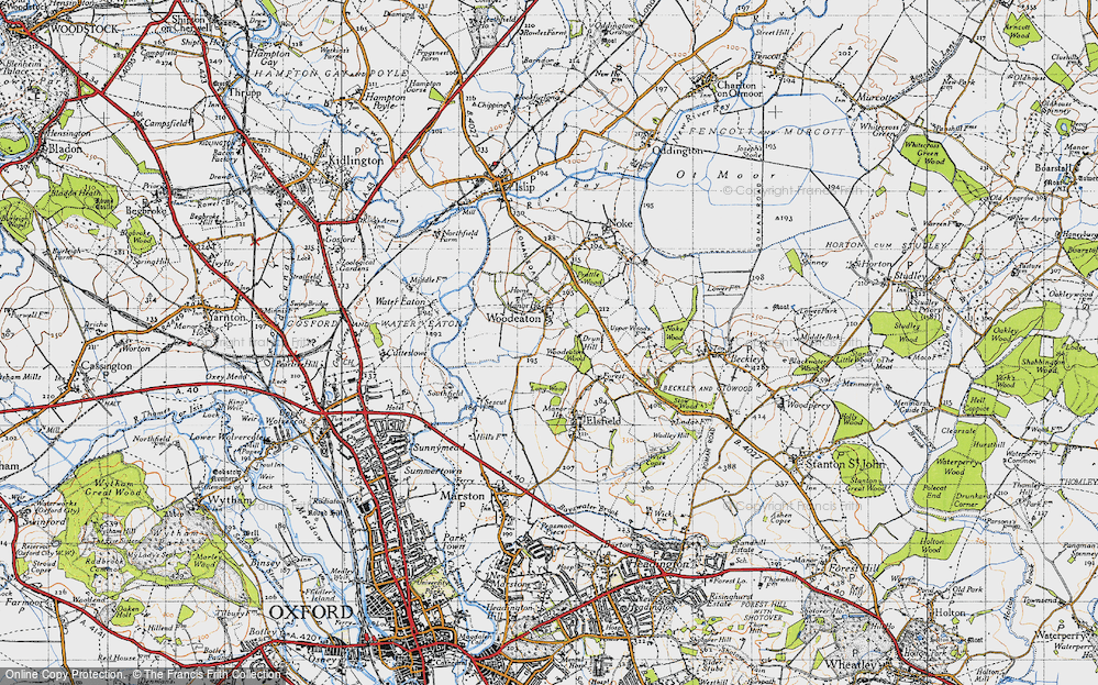 Old Map of Woodeaton, 1946 in 1946