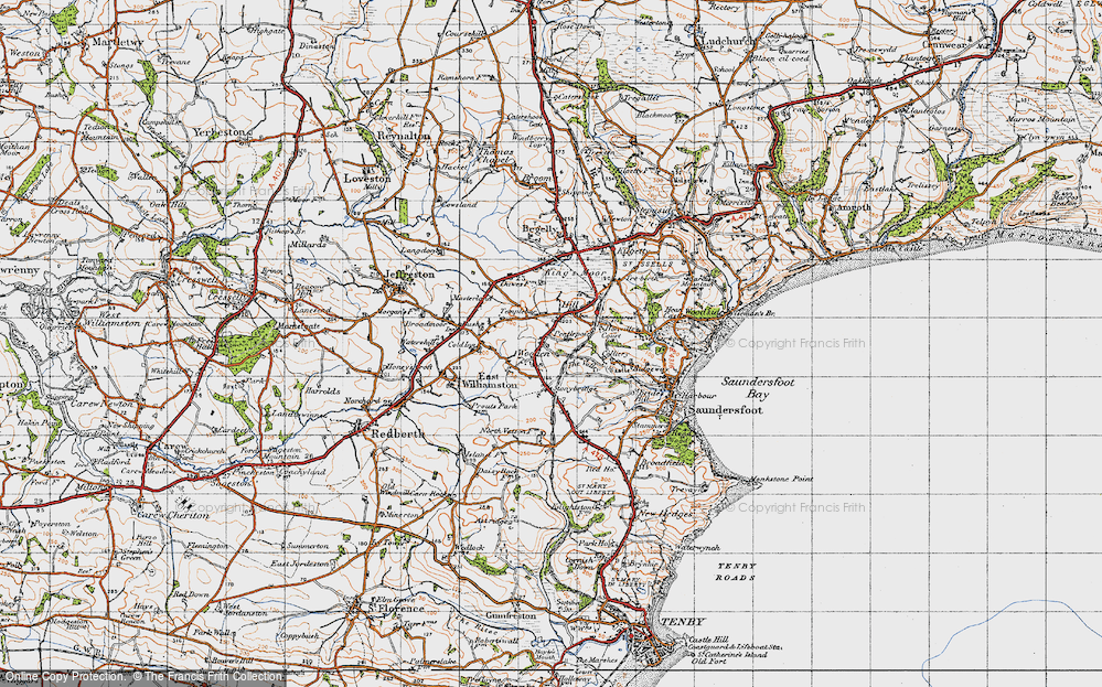 Old Map of Wooden, 1946 in 1946