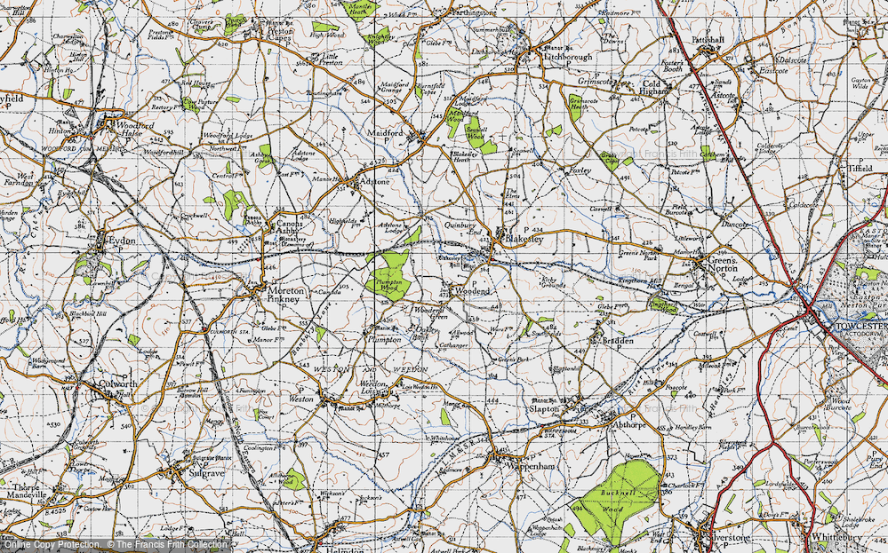 Old Map of Woodend, 1946 in 1946