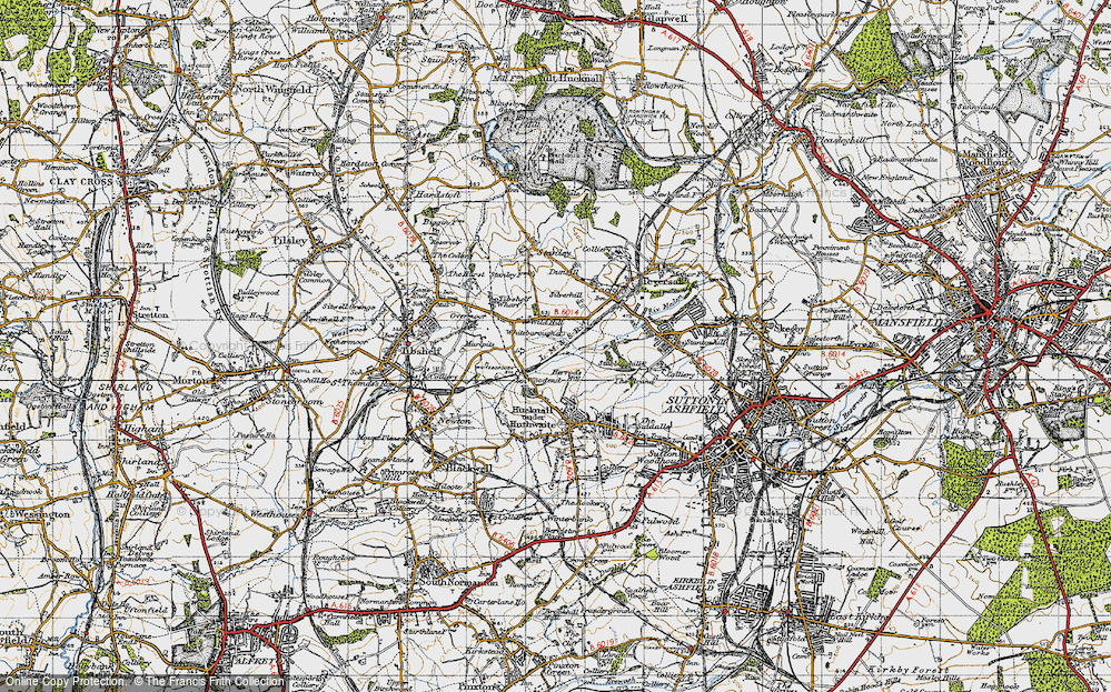 Old Map of Woodend, 1947 in 1947