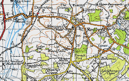 Old map of Woodfalls in 1940