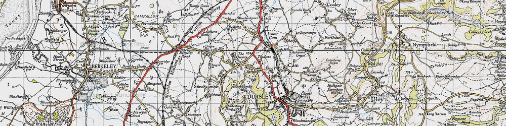 Old map of Woodfield in 1946
