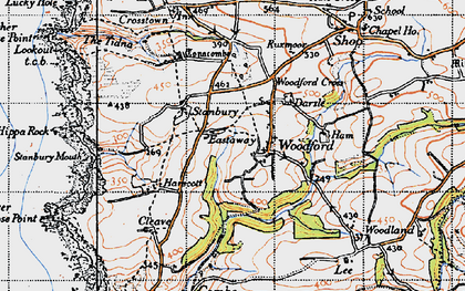Old map of Lee Barton in 1946