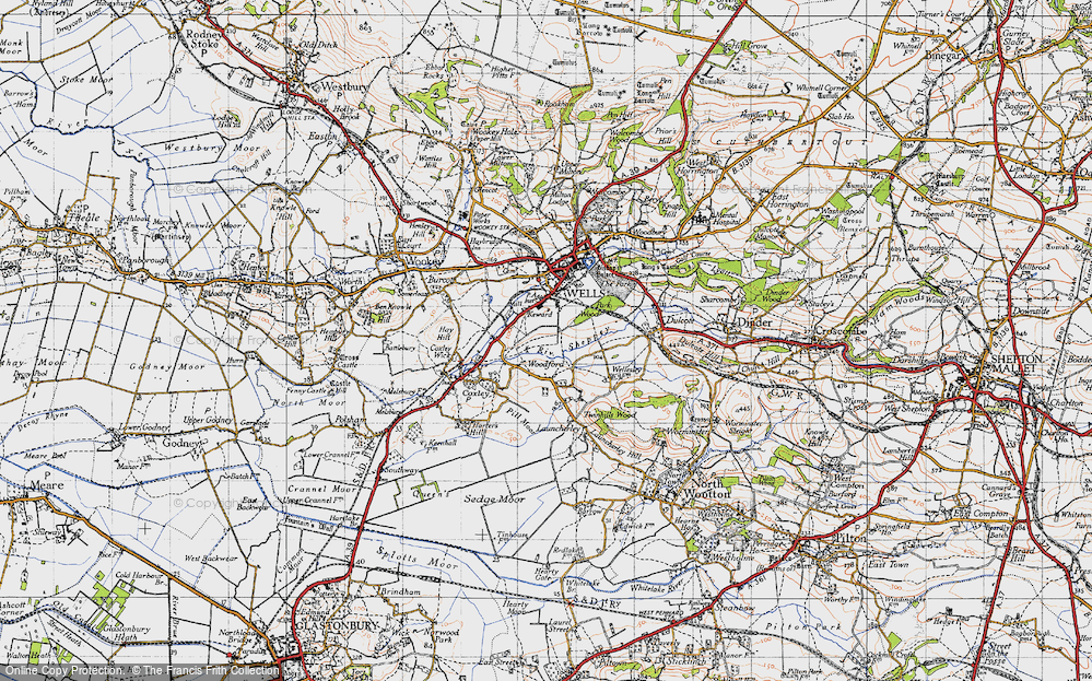 Old Map of Woodford, 1946 in 1946