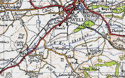 Old map of Woodford in 1946