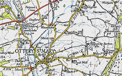 Old map of Westgate Hill in 1946
