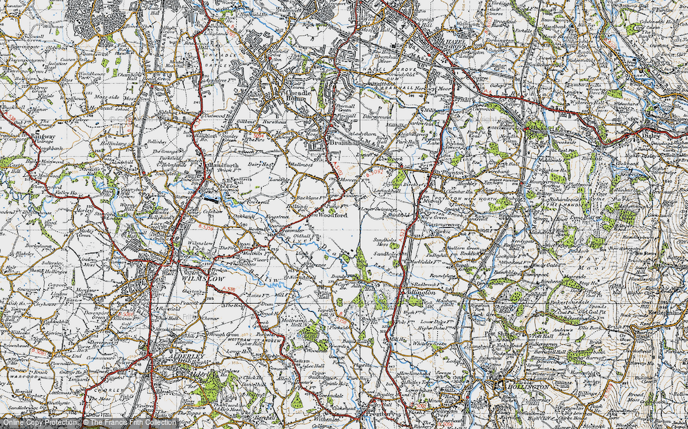 Old Map of Woodford, 1947 in 1947
