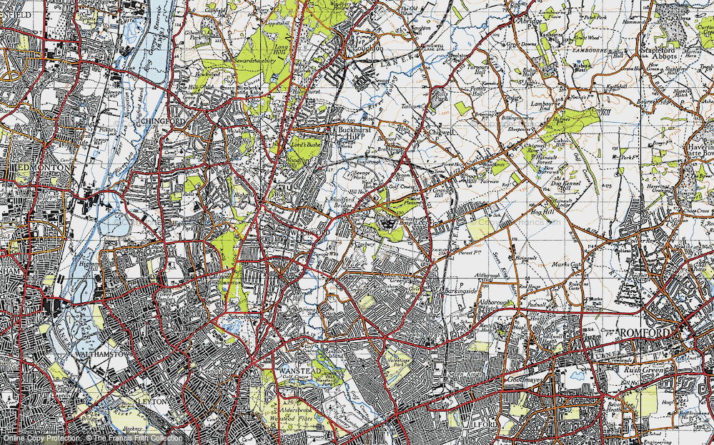 Old Map of Woodford Bridge, 1946 in 1946