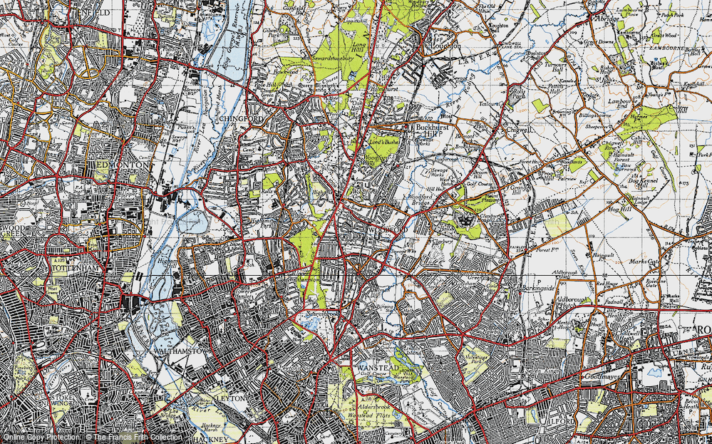 Old Map of Woodford Green, 1946 in 1946