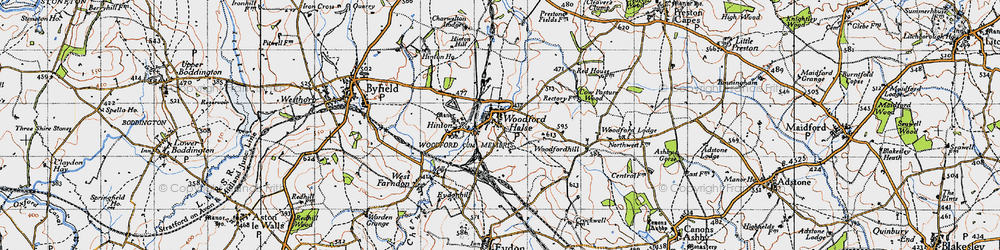 Old map of Woodfordhill in 1946