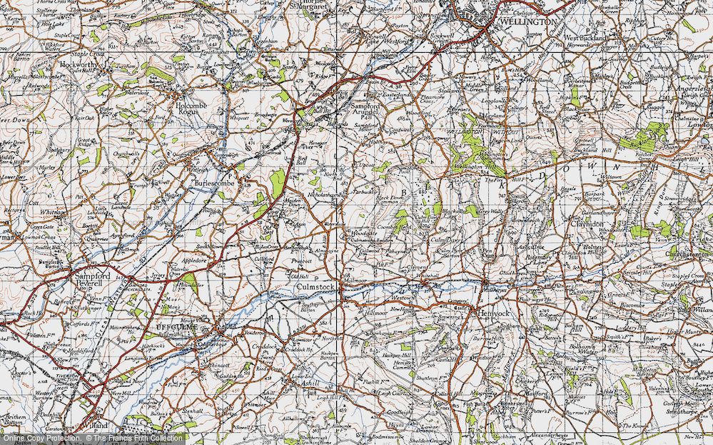 Old Map of Woodgate, 1946 in 1946