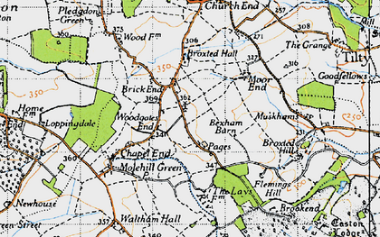 Old map of Woodgates End in 1946