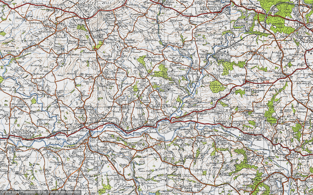 Old Map of Woodgates Green, 1947 in 1947