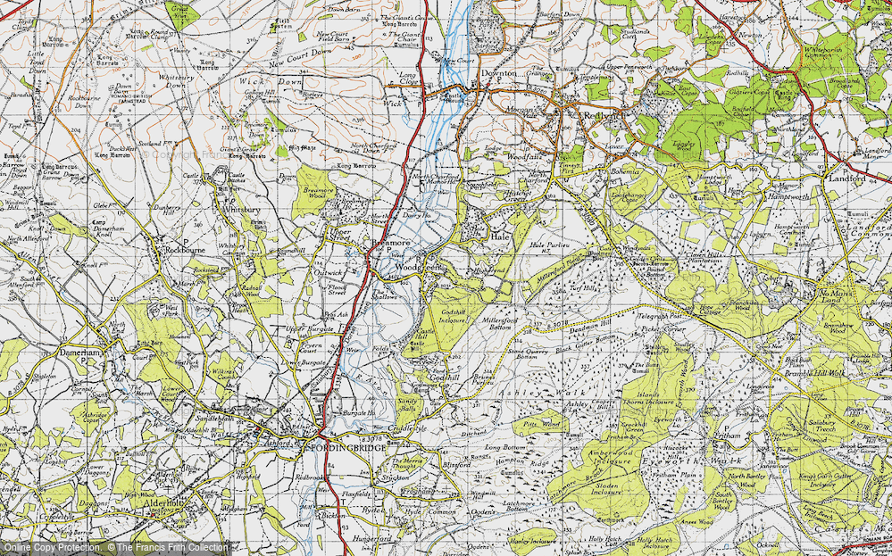 Old Map of Woodgreen, 1940 in 1940