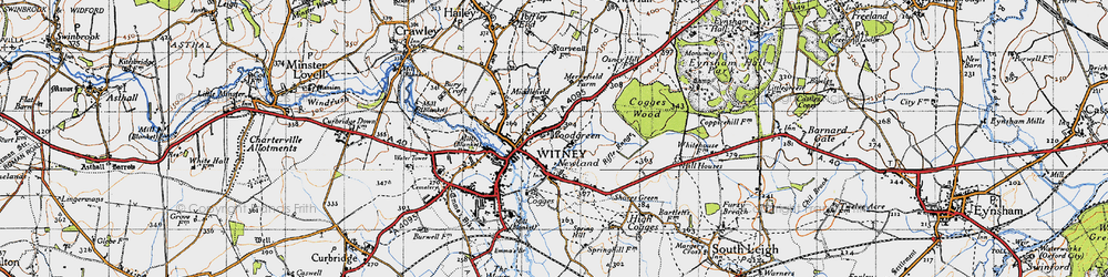 Old map of Woodgreen in 1946