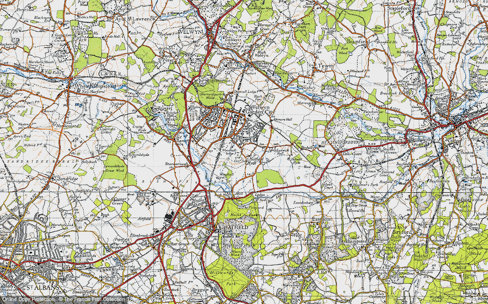 Old Map of Woodhall, 1946 in 1946