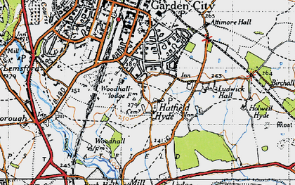 Old map of Woodhall in 1946