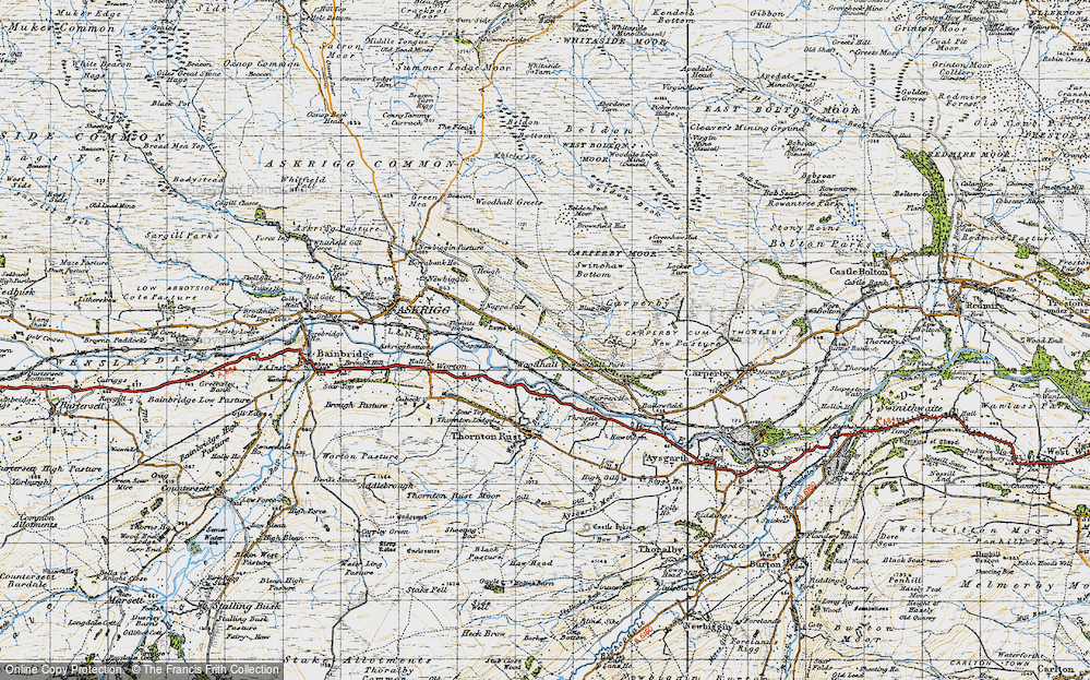 Old Map of Woodhall, 1947 in 1947