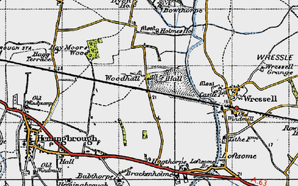 Old map of Babthorpe in 1947