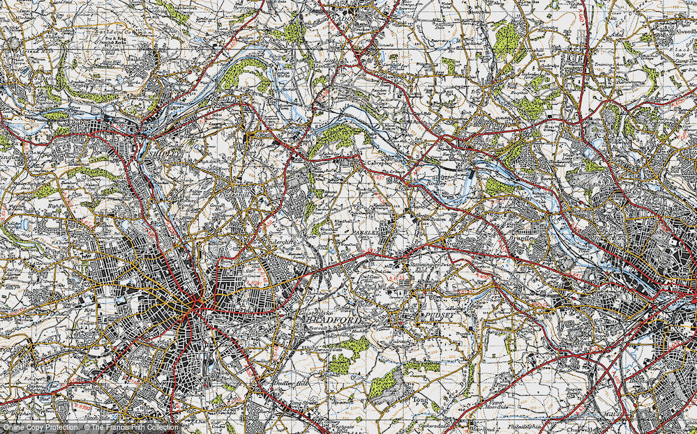 Old Map of Woodhall Hills, 1947 in 1947