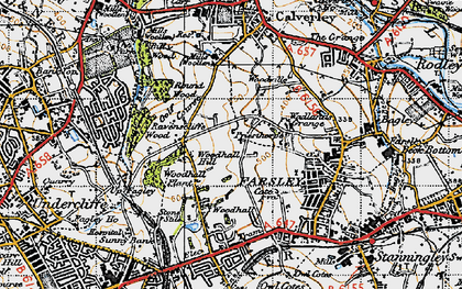 Old map of Woodhall Hills in 1947