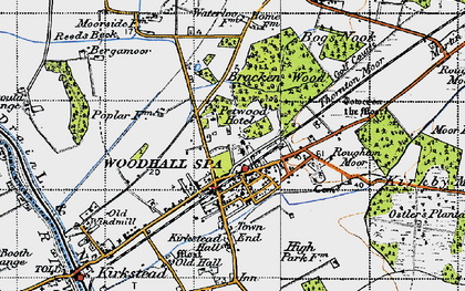 Old map of Woodhall Spa in 1946