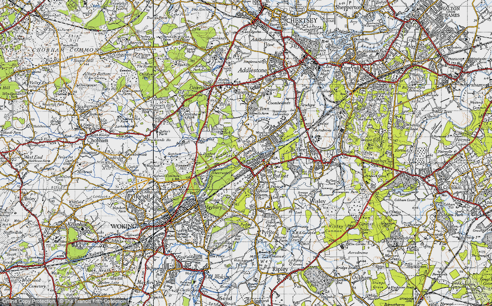 Old Map of Woodham, 1940 in 1940