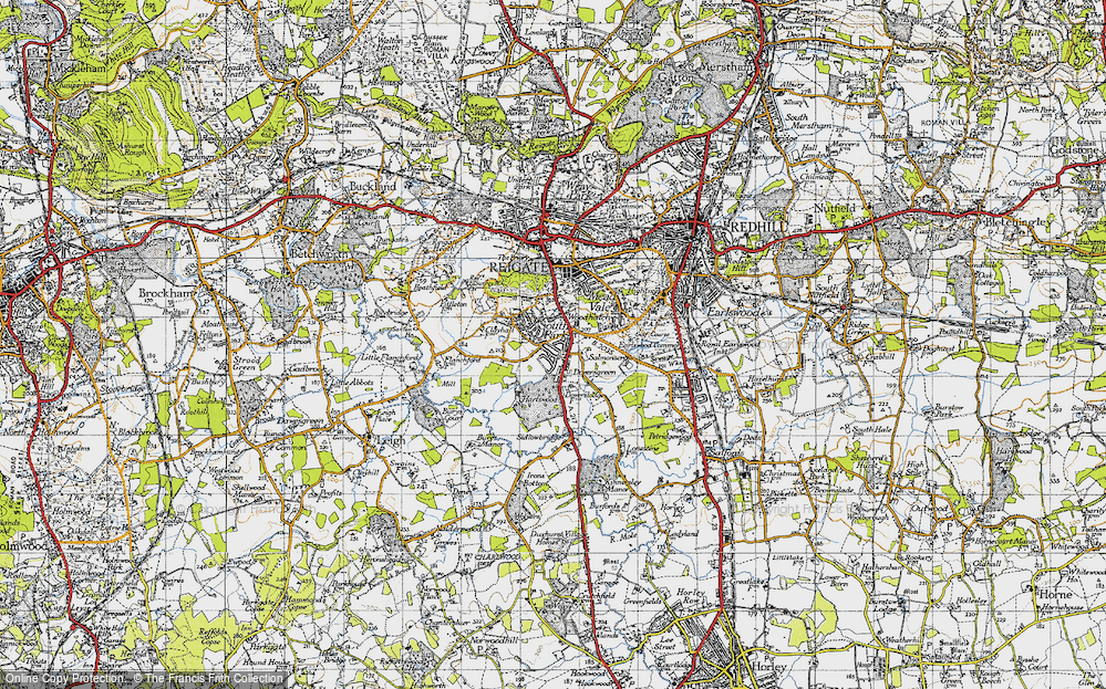 Old Map of Woodhatch, 1940 in 1940