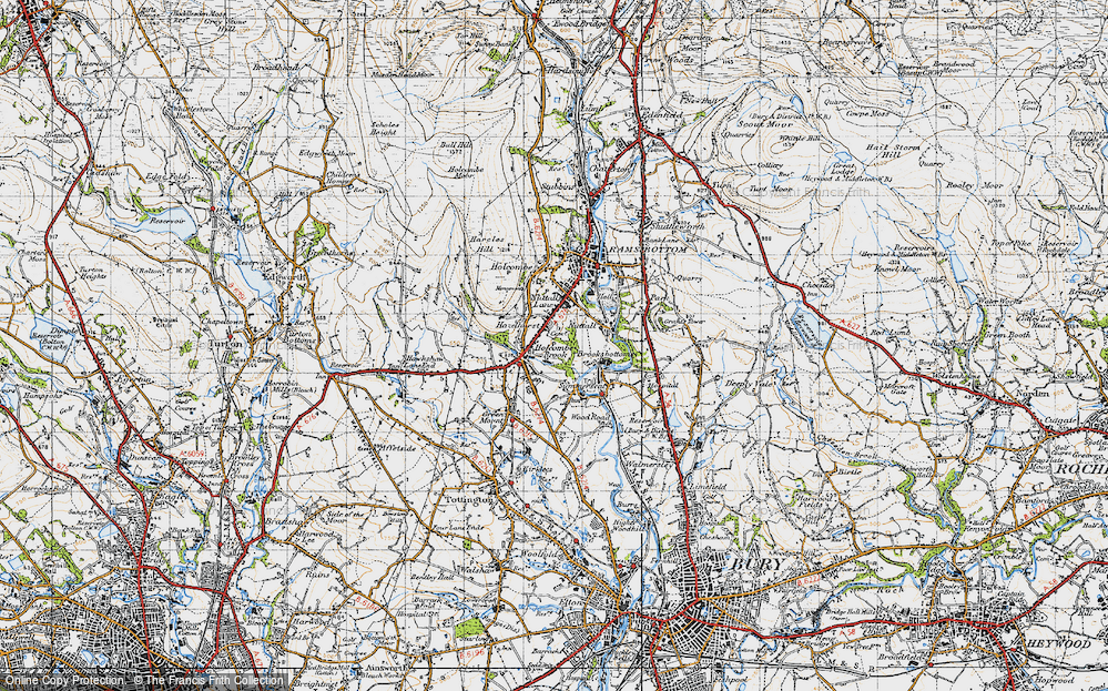 Old Map of Woodhey, 1947 in 1947