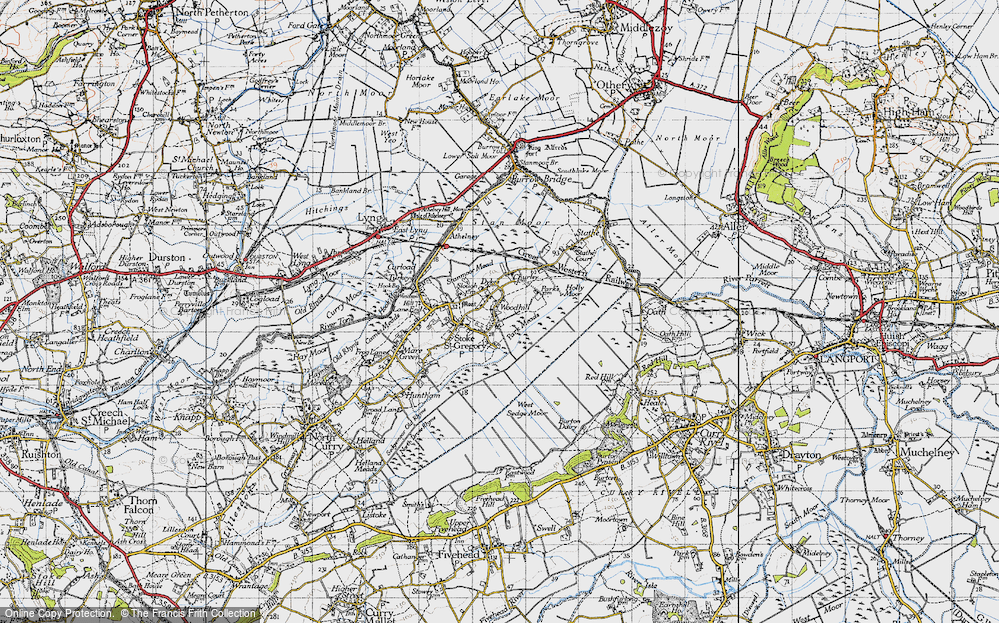 Old Map of Woodhill, 1945 in 1945