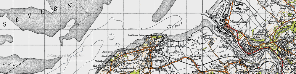 Old map of Woodhill Bay in 1946