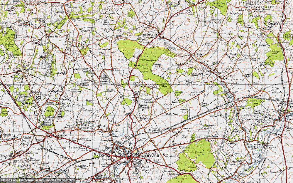 Old Map of Woodhouse, 1945 in 1945