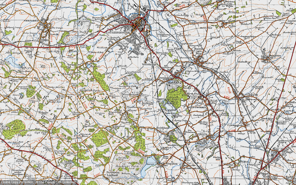 Old Map of Woodhouse, 1946 in 1946
