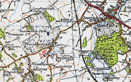 Old map of Woodhouse in 1946