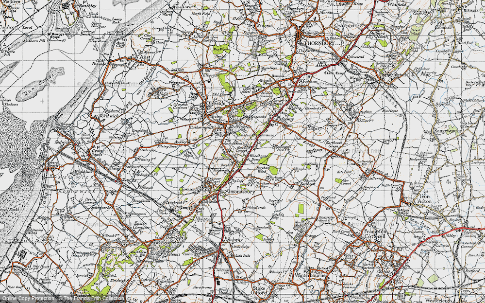 Old Map of Woodhouse Down, 1946 in 1946