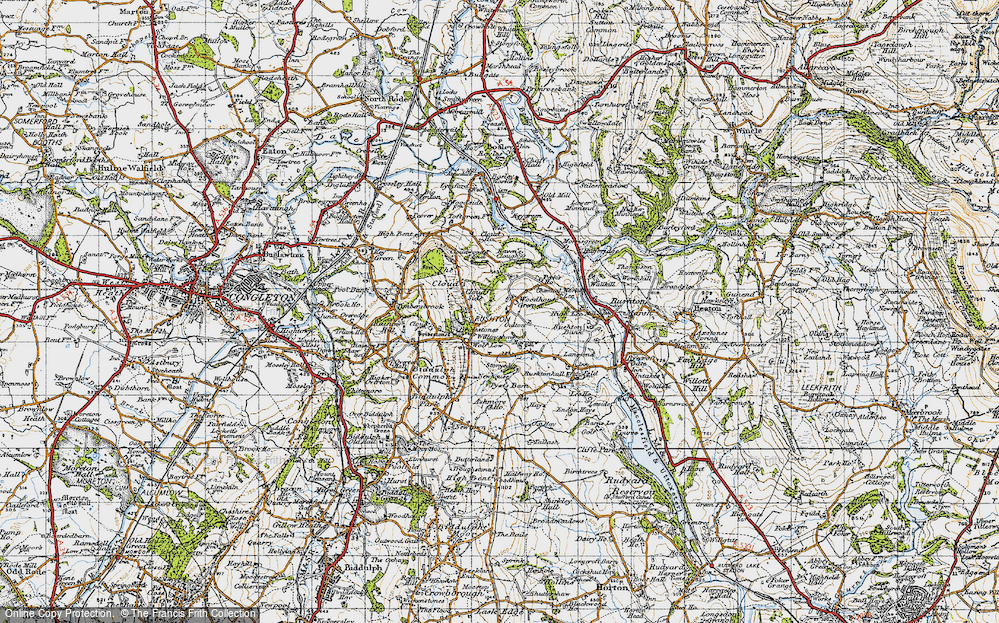Old Map of Woodhouse Green, 1947 in 1947