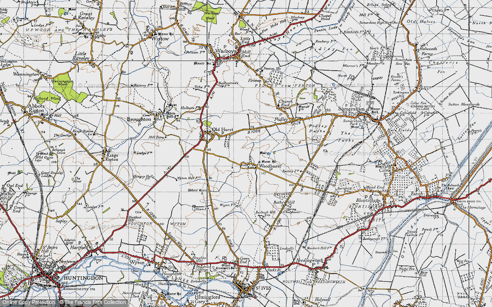 Old Map of Woodhurst, 1946 in 1946