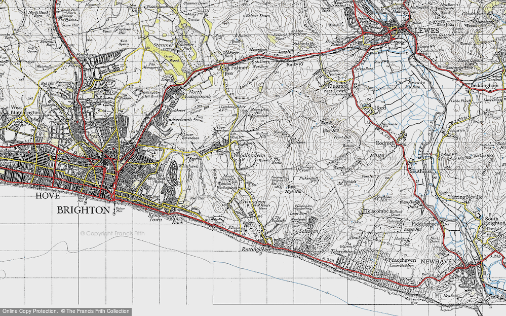 Old Map of Woodingdean, 1940 in 1940