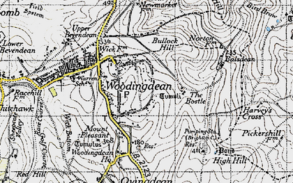 Old map of Woodingdean in 1940