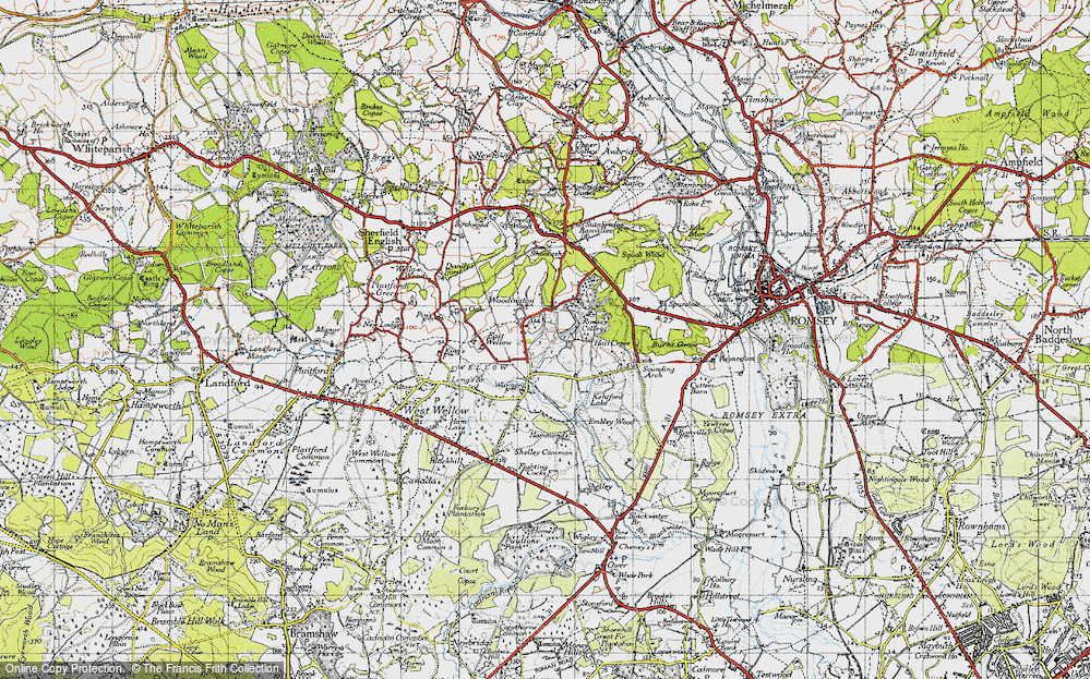 Old Map of Woodington, 1945 in 1945
