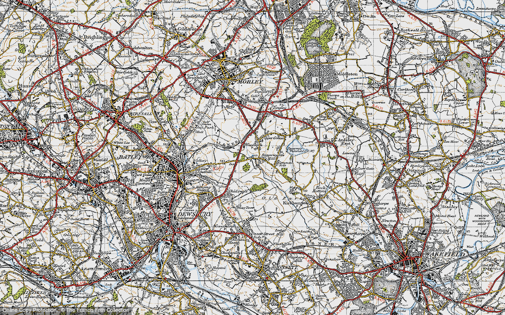 Old Map of Woodkirk, 1947 in 1947