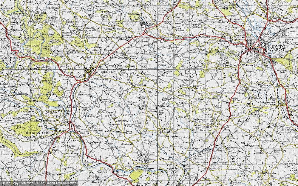 Old Map of Woodland, 1946 in 1946