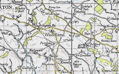 Old map of Wickeridge in 1946
