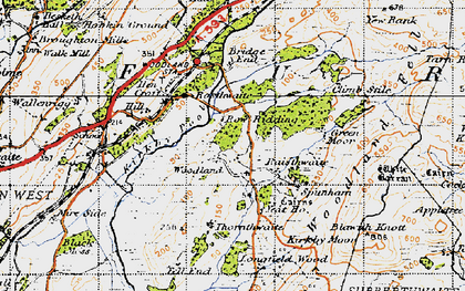 Old map of White Borran in 1947
