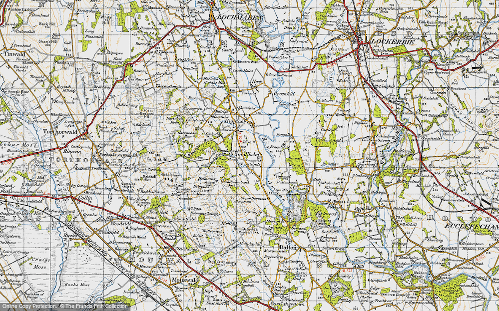 Old Map of Woodlands, 1947 in 1947
