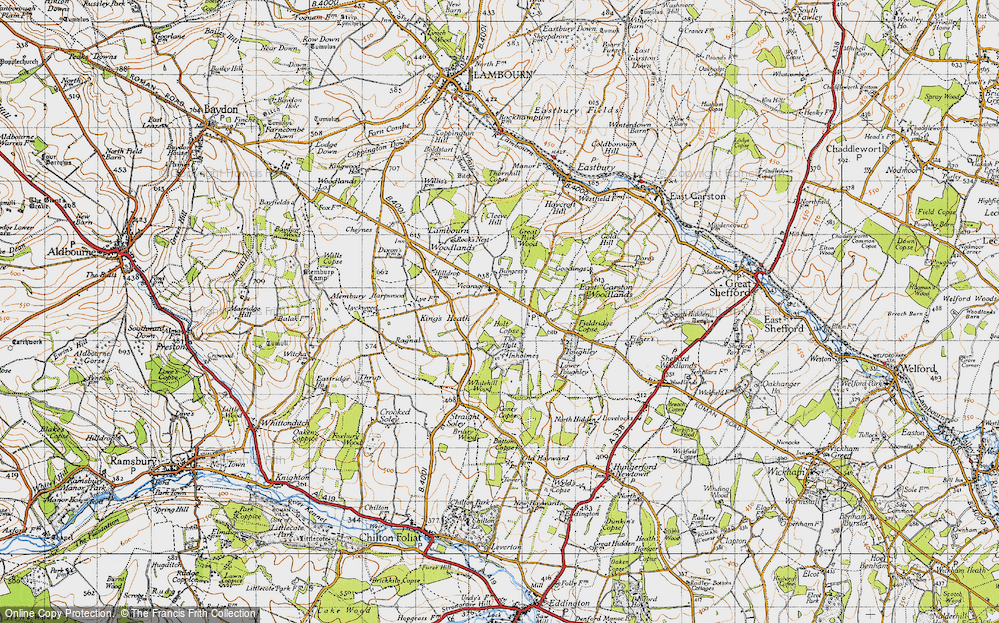 Old Map of Woodlands St Mary, 1947 in 1947
