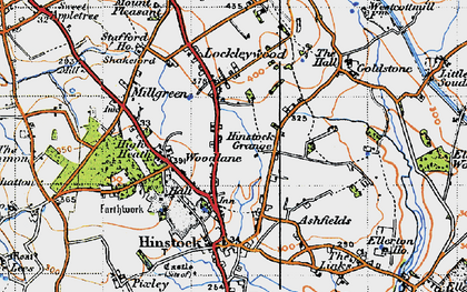 Old map of Woodlane in 1946
